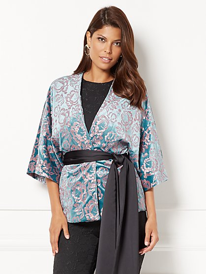 Eva Mendes Collection - Manu Embellished Kimono Jacket - New York & Company