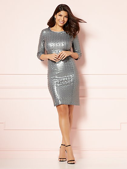 Eva Mendes Collection - Marielle Sequin Sheath Dress - New York & Company
