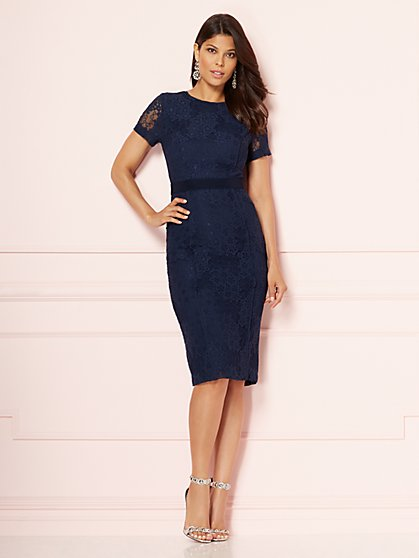 Eva Mendes Collection - Navy Romina Sheath Dress - New York & Company