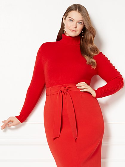 Eva Mendes Collection - Nia Turtleneck Sweater - Plus - New York & Company