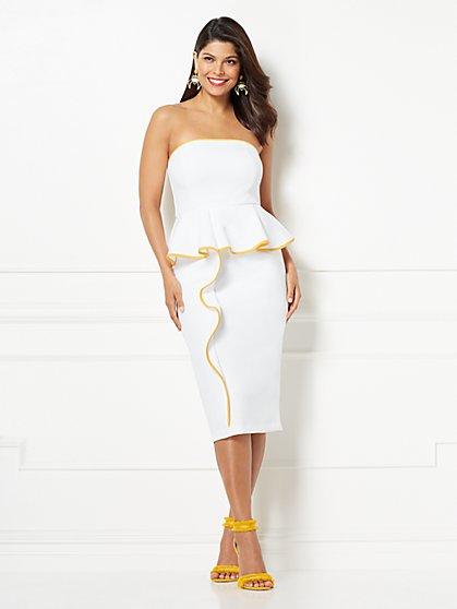 Eva Mendes Collection - Petite Angie Peplum Sheath Dress - New York & Company