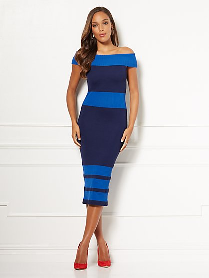 Eva Mendes Collection - Petite Chantelle Sweater Dress - New York & Company