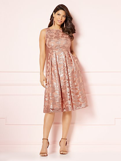 Eva Mendes Collection - Philomena Sequin Flare Dress - New York & Company