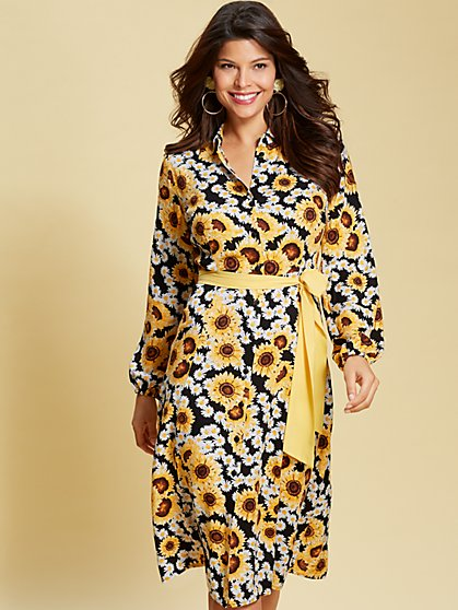 Eva Mendes Collection - Pia Floral Shirtdress - New York & Company