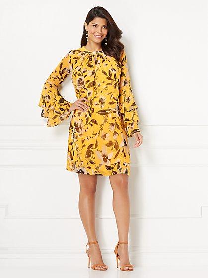 Eva Mendes Collection - Printed Sabrina Dress - New York & Company