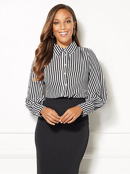 Eva Mendes Collection - Reva Striped Blouse - New York & Company