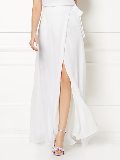 Eva Mendes Collection - Rosie White Maxi Skirt - New York & Company