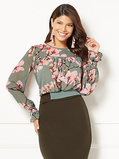 Eva Mendes Collection - Rosita Ruffle-Sleeve Blouse - New York & Company