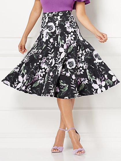 Eva Mendes Collection - Sakura Floral Skirt - New York & Company