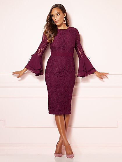 Eva Mendes Collection - Seraphina Lace Sheath Dress - New York & Company