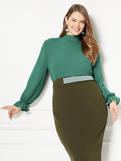Eva Mendes Collection - Sevan Blouse - Plus - New York & Company