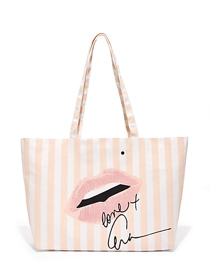 Eva Mendes Collection Signature Canvas Tote Bag New York Company