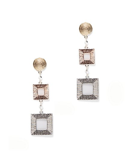 Eva Mendes Collection - Square Drop Earring - New York & Company