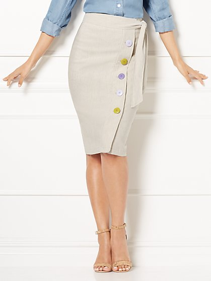 Eva Mendes Collection - Tall Emme Linen Skirt - New York & Company