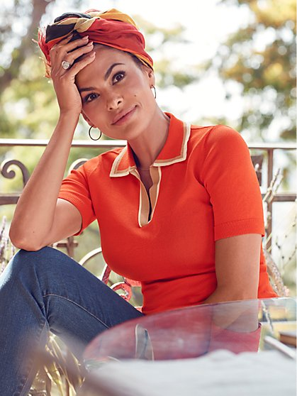 Eva Mendes Collection - Tall Karla Polo Sweater - New York & Company