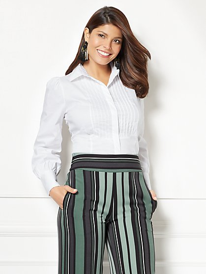 Eva Mendes Collection - Tieghan Pintuck Shirt - New York & Company