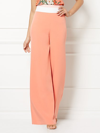 Eva Mendes Collection - Tracee Colorblock Palazzo Pant - New York & Company