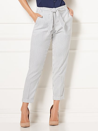 Eva Mendes Collection - Zoey Striped Pant - New York & Company