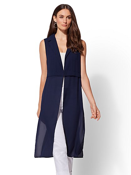 Exaggerated Hem Vest - New York & Company
