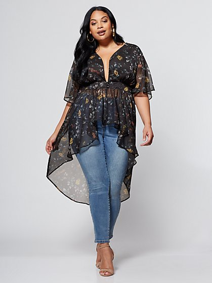 FTF Alice Floral Duster - New York & Company
