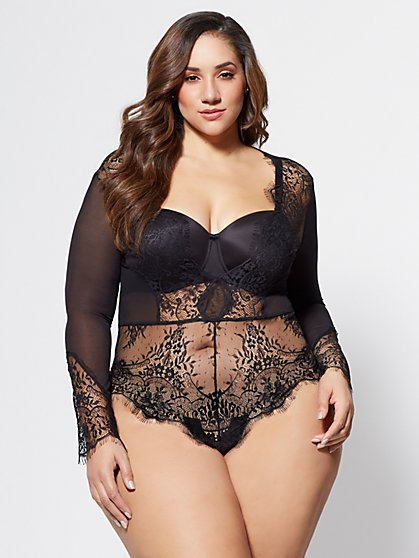 FTF Aryn Lace Bodysuit - New York & Company