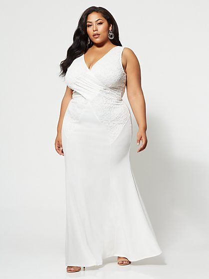FTF Audrey Lace Maxi Dress - New York & Company