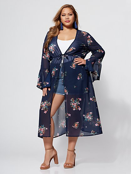 FTF Bennet Floral Duster - New York & Company