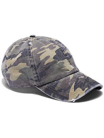 FTF Camo Baseball Cap - New York & Company
