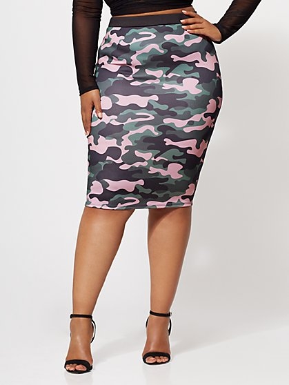 FTF Camo Pencil Skirt - New York & Company