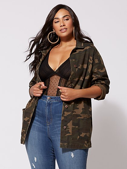 FTF Camo Trucker Jacket - New York & Company