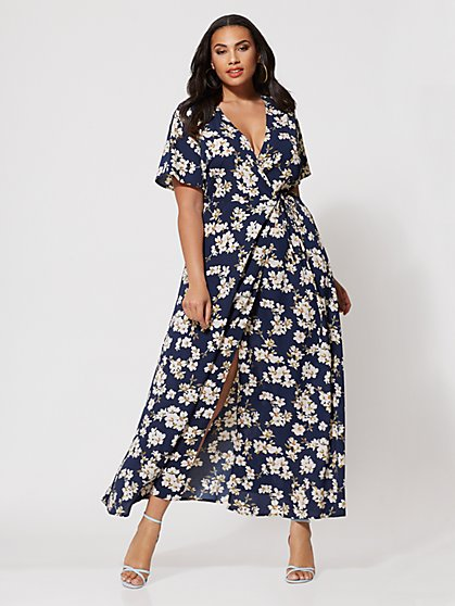FTF Celia Floral Wrap Dress - New York & Company