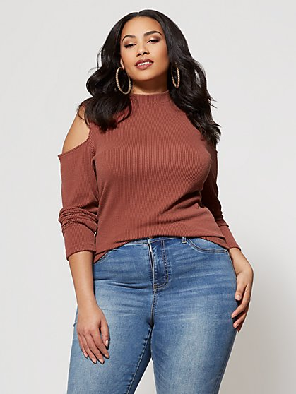 FTF Claire Coldsholder Top - New York & Company