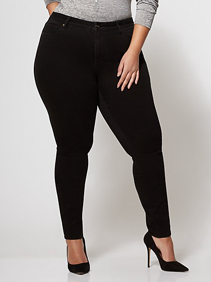 FTF Classic Skinny Jeans - Black - New York & Company