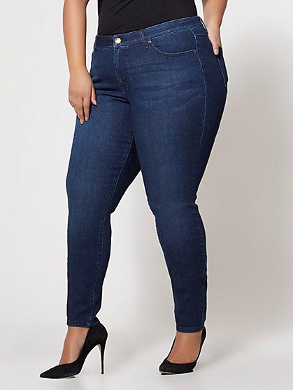 FTF Classic Skinny Jeans - Dark Wash - New York & Company