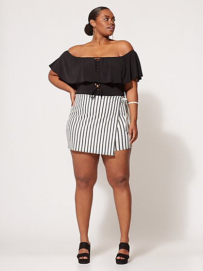 FTF Classic Striped Skort - New York & Company