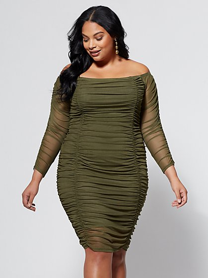 FTF Claudia Mesh Dress - New York & Company