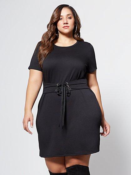 FTF Corset T-Shirt Dress - New York & Company