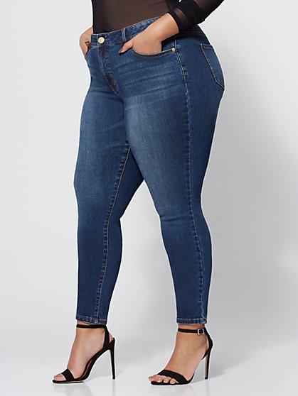 FTF Dark Wash Lycra Premium Skinny Jean - New York & Company