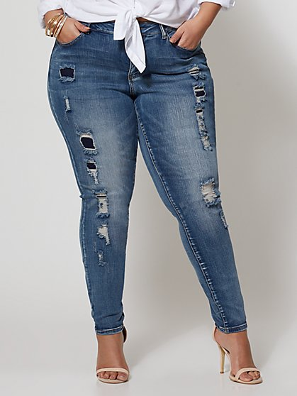 FTF Destructed Skinny Jean - New York & Company