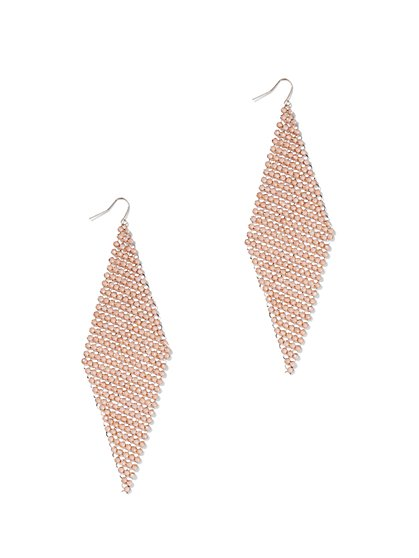 FTF Disco Mesh Dangle Earrings - New York & Company