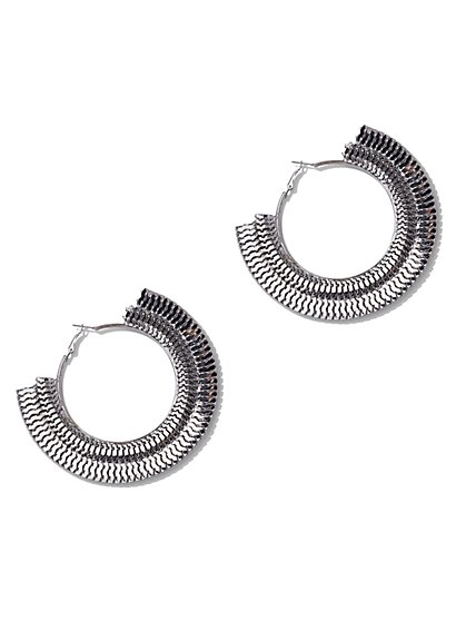 FTF Edgy Chain Earrings - New York & Company