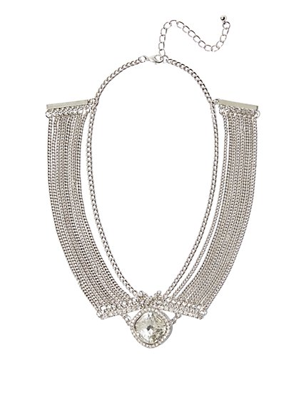 FTF Elegant Rhinestone Necklace - New York & Company