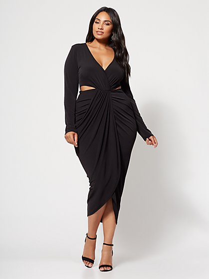 FTF Elena Drape Front Dress - New York & Company