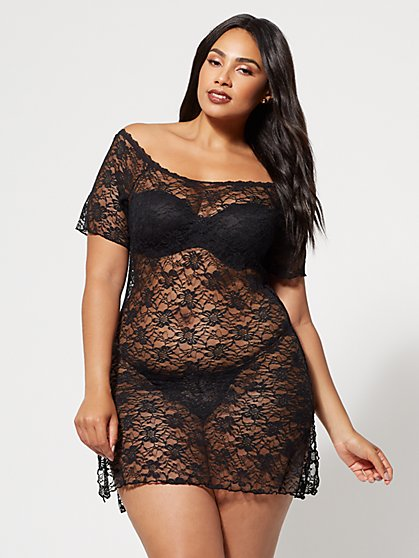 FTF Elisa Lace Lingerie Dress - New York & Company
