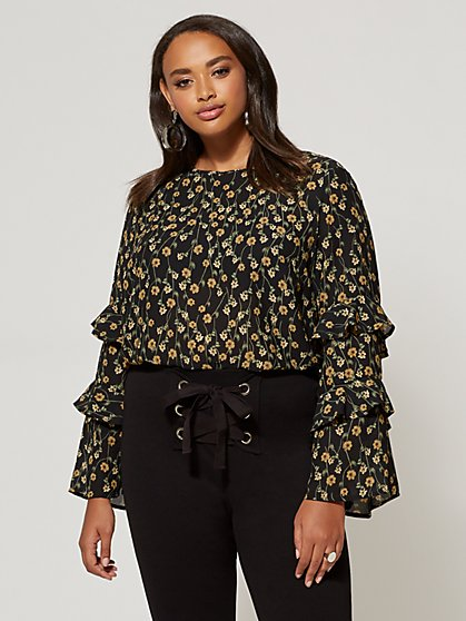 FTF Emmie Floral Top - New York & Company