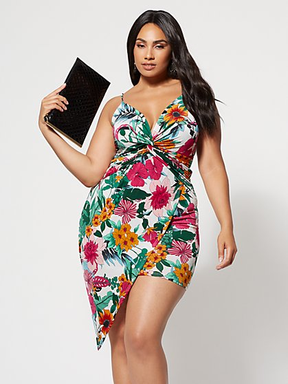 FTF Evelyn Floral Bodycon Dress - New York & Company