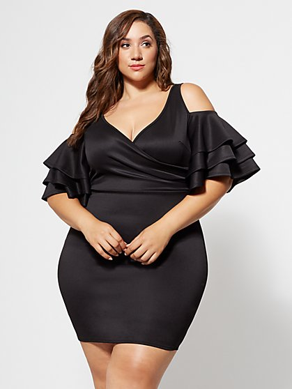 FTF Everly Drama Ruffle Bodycon - New York & Company