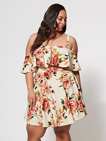 FTF Fiona Ruffle Dress - New York & Company