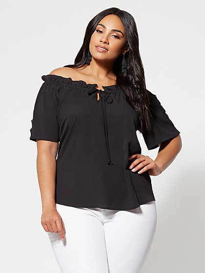 FTF Georgia Off Shoulder Blouse - New York & Company