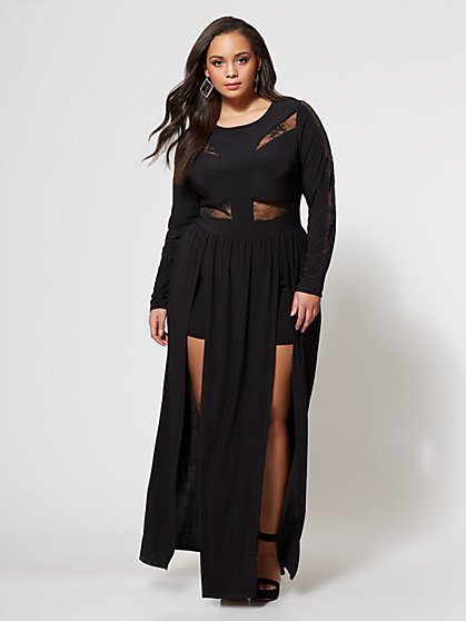 FTF Gia High Slit Gown - New York & Company